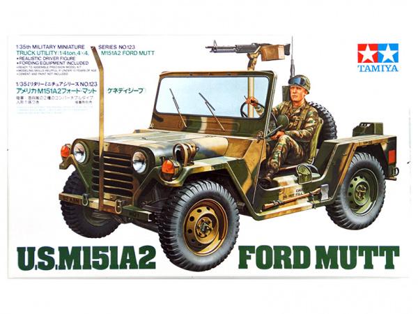 Американский джип M151A2 Ford Mutt с пулеметом М60 и 1 фигур