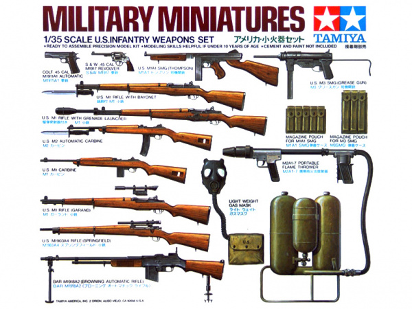 Модель Набор вооружения американсикх солдат (1:35)