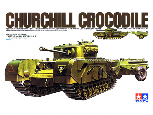 Модель Английский танк Churchill Crocodile с 2 фигурами (1:35)