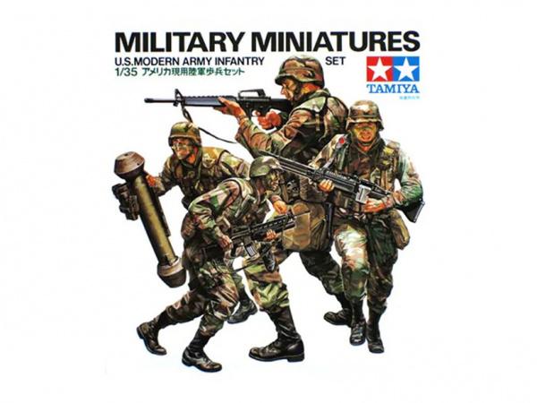 Модель Американские современные пехотинцы с М16А1, М203, М47 и М60