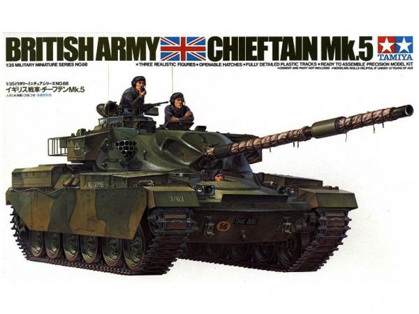 Танк Чифтен Chietain Mk.5 c 3 фигурами (1:35)