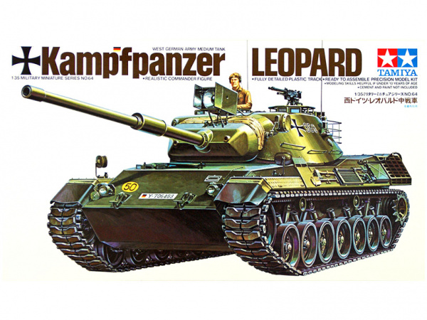 Западно-германский танк Leopard c 105 мм. пушк.(1:35)