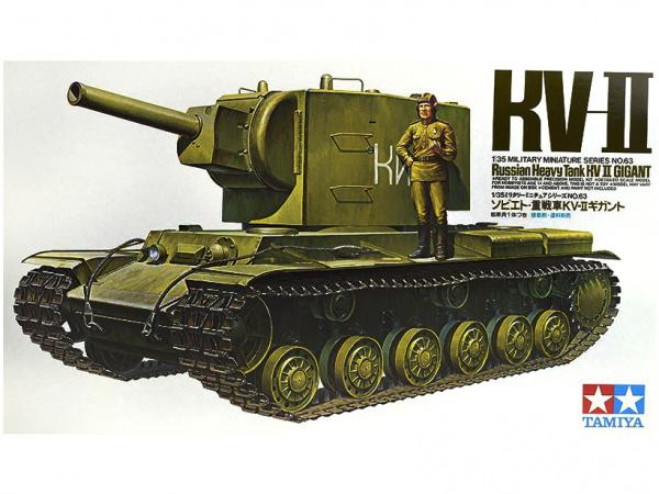 Модель Советский тяжёлый танк КВ-2 c фигурой танкиста (1:35)