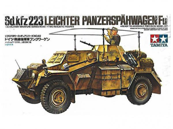 Модель Немецкая машина радиосвязи Sd.Kfz.223 с одной фигурой (1:35)