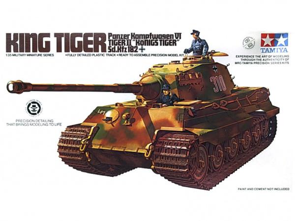 Модель Немецкий тяжёлый танк Tiger I с двумя фигурами (1:35)