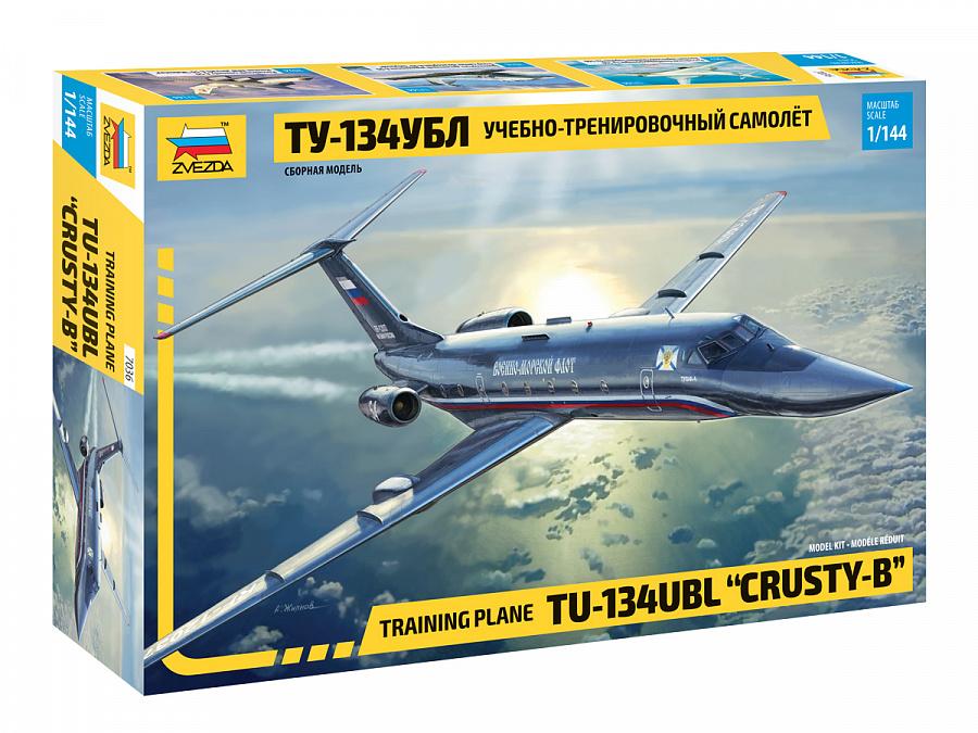 Модель Учебно-тренировочный самолёт ТУ-134 УБЛ (1:144)