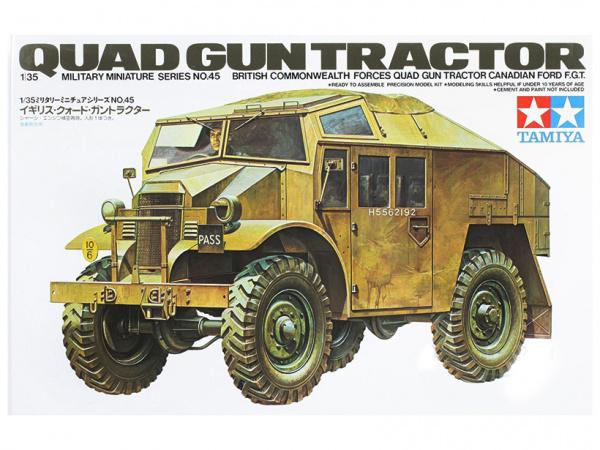 Модель Английский тягач (Quad gun tractor) (1:35)