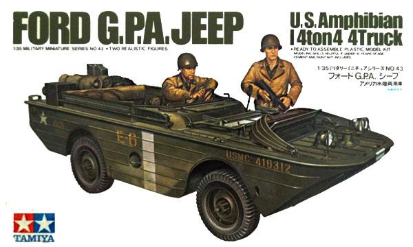 Модель Американская 4-тонная амфибия Ford G.P.A. с 2 фигурами (1:35