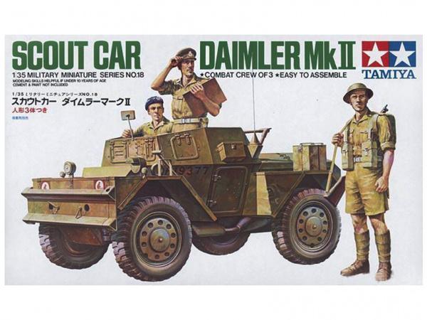 Модель Английский разведывательный бронеавтомобиль Daimler MK.II с