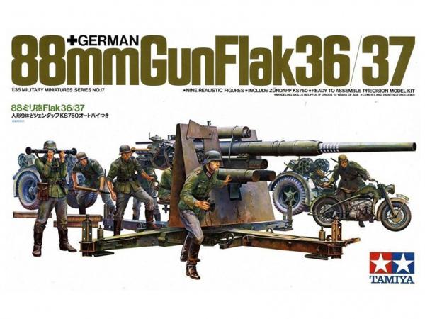 Модель 88 мм пушка Gun Flak 36/37 (1:35)