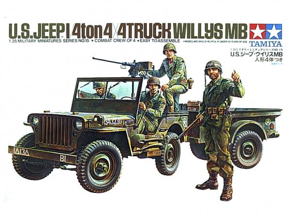 Модель Американский джип Willys MB. 4tonn 4Х4 (1:35)