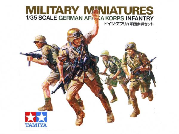 Модель Немецкие пехотинцы, африканский корпус. 4 фигуры (1:35)