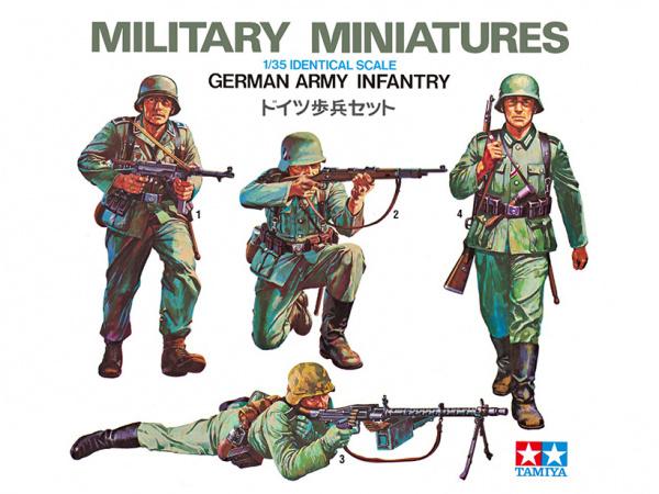 Модель Немецкие пехотинцы. 4 фигуры (1:35)