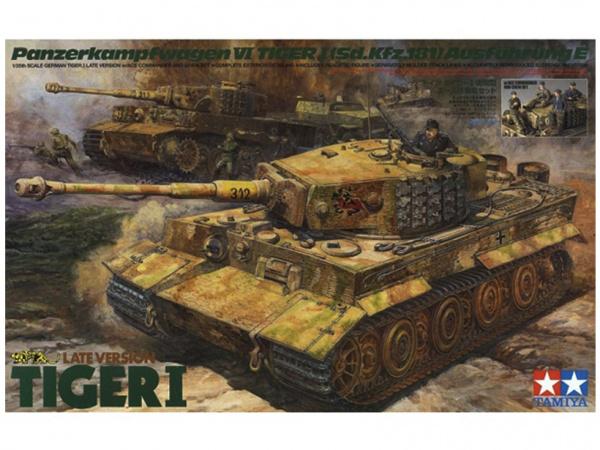 Модель Немецкий танк Tiger I Late Version, с 8 фигурами (1:35)