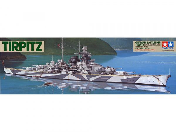 Модель Немецкий линкор Тирпиц Tirpitz (1:350)