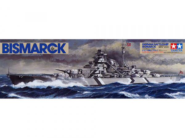Модель Немецкий линкор Бисмарк Bismarck (1:350)