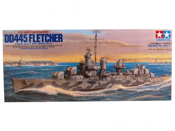 Модель Американский эсминец DD445 Fletcher (1:350)