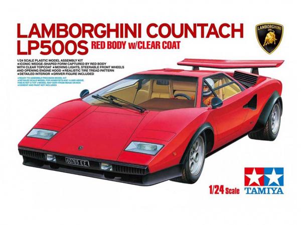 Lamborghini Countach LP500S с фигурой водителя (1:24)