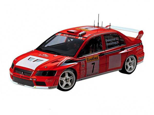 Модель - Mitsubishi Lancer Evolution VII WRC (1:24).