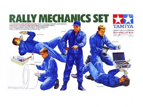 Набор механиков раллийных машин (5 фигур) (1:24)