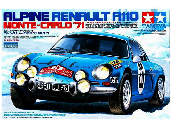 Alpine Renault A110 Monte-Carlo`71 (1:24)