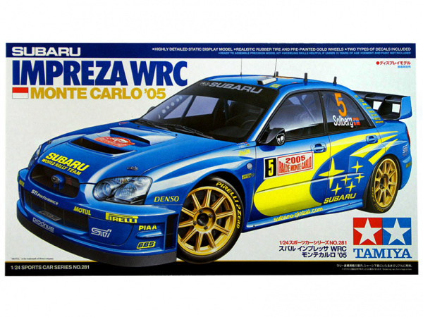 Subaru Impreza WRC Monte Carlo `05 (1:24) Сборная модель