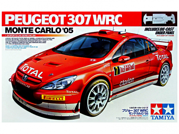 Peugeot 307 WRC Monte Carlo '05 (1:24) Сборная модель