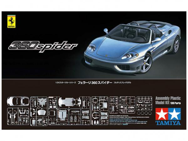 Ferrari 360 Spider (1:24) Сборная модель