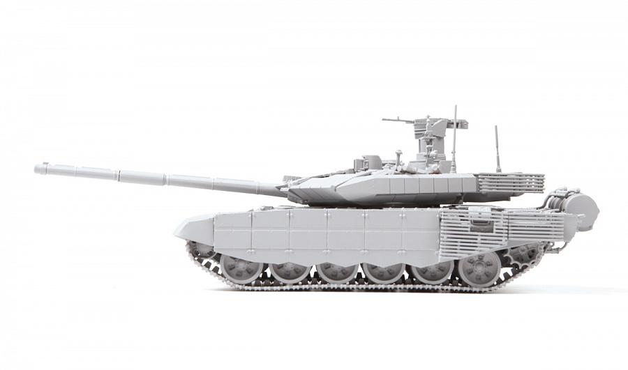 Модель - Российский основной боевой танк Т-90МС.