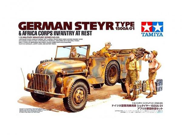 Модель Немецкий автомобиль Steyr Type 1500A/01, с 4 фигурами