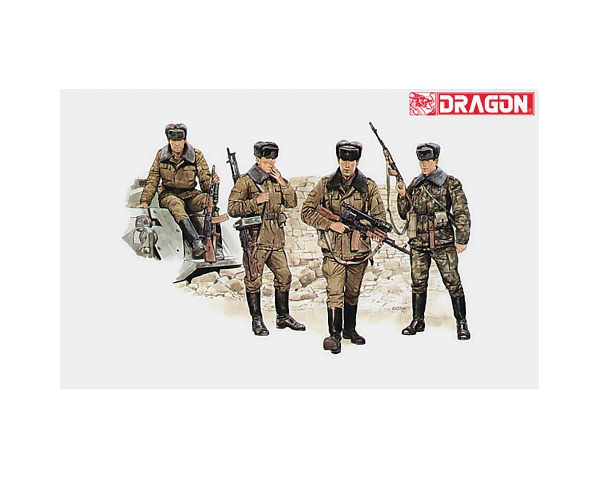 Модель Советские мотострелковые войска. 4 фигуры.