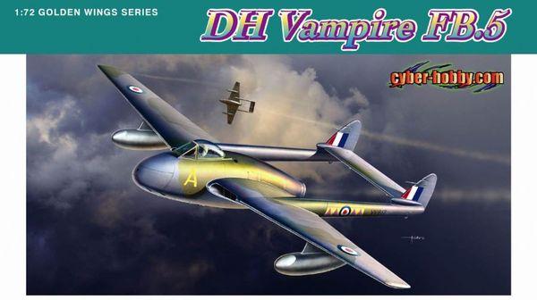 Модель британский реактивный истребитель Де Хэвилленд «Вампир»