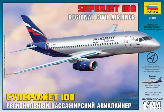 Сборная модель Сухой Суперджет 100 (1/144)