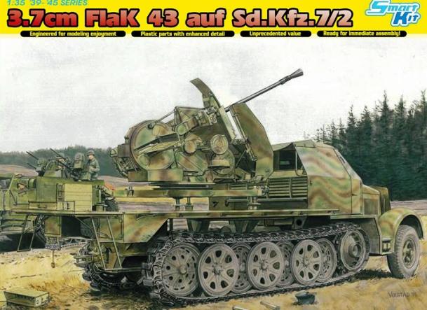 Модель ЗЕНИТНОЕ ОРУДИЕ 3.7CM ФЛАК 43 НА SD.KFZ.7/2