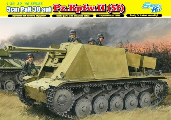 Модель ГЕРМАНСКАЯ САУ 5CM ПАК 38 AUF FGST.PZ.KPFW.II (SF)