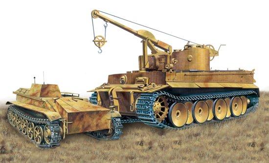 Инженерный немецкий танк Bergepanzer Tiger I