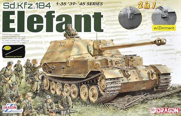 Модель НЕМЕЦКОЕ САУ SD.KFZ.184 ELEFANT (2 В 1)