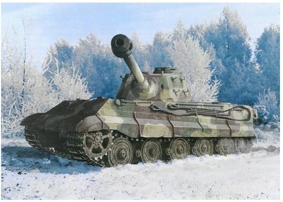 Модель Немецкий тяжелый танк Королевский Тигр поздней версии с шасс