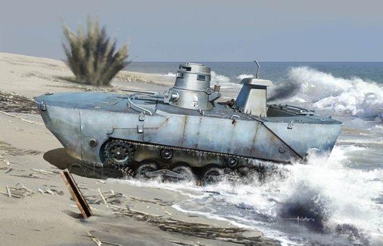 Японский танк-амфибия IJN Type 2 Ka-Mi
