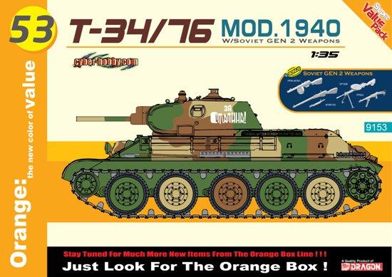 Модель ТАНК Т-34/76 ОБРАЗЦА 1940 ГОДА (С НАБОРОМ ВООРУЖЕНИЯ СОВЕТСК