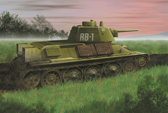 Советский танк T-34/76 образца 1943 года. 1/72