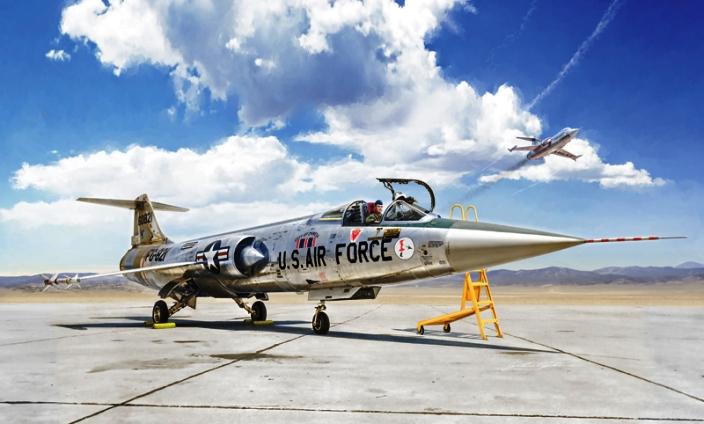 Модель Американский истребитель F-104 STARFIGHTER A/C  (1:32)