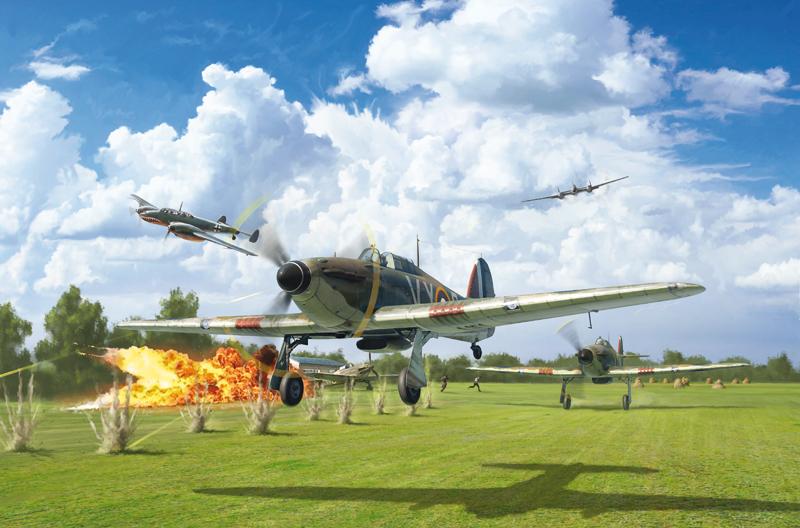 Модель британский одноместный истребитель HURRICANE MK.I 1/48