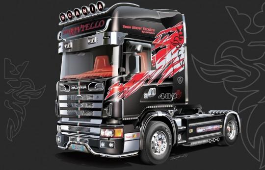 Модель грузовик Scania 164L TopClass 1/24