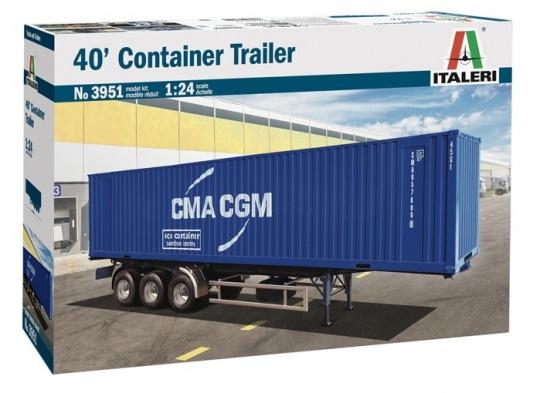 Модель контейнер для трэйлера 40' Container Trailer  (1:24)