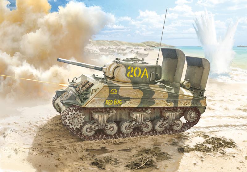 Модель средний танк США M4A2 Sherman корпуса морской пехоты 1/35