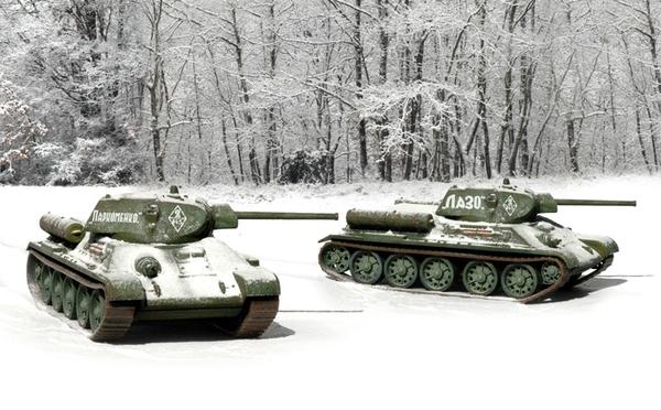 Модель T 34 / 76 мод.42  (2 быстросборные модели) (