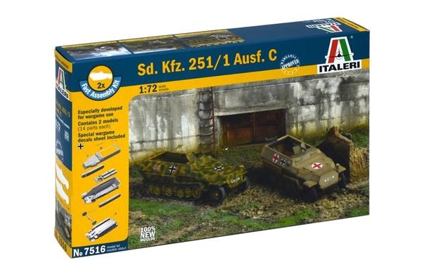 Модель БТР  Sd.Kfz.251/1 Ausf.C  (2 быстросборные модели) (1:72)