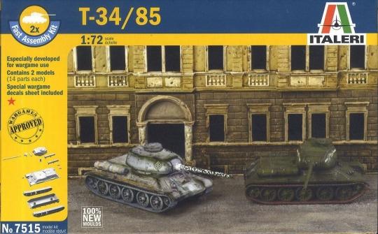 Модель танк T-34/85 (2 быстросборные модели) (1:72)
