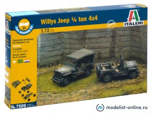 Модель Американский бронеавтомобиль Willys Jeep 1/4 Ton 4x4  (1:72)